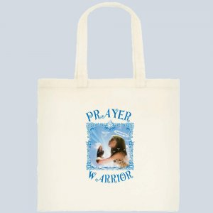 Prayer Warrior Tote Bag  Khaki   $9.95