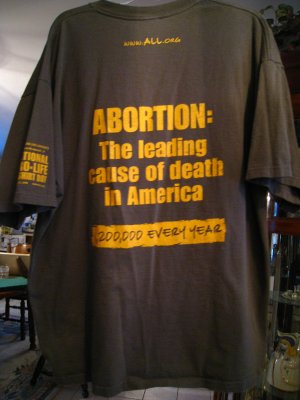 PRO-LIFE T-SHIRT  LGE Join April 12-18 A.L.L. TShirt Day  - $20