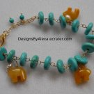 TURQUOISE AND BEAR BRACELET