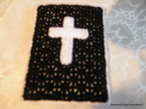Black Plastic Canvas Christian Phone/Camera Case