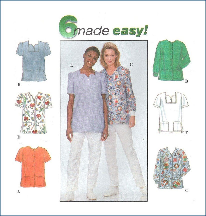 Simplicity Uncut Sewing Pattern 8351 Misses Tops 6 Made Easy 14 16 18