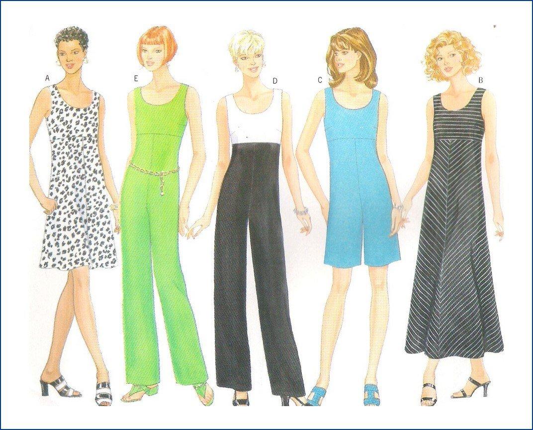 Butterick 4995 Uncut Sewing Pattern Misses Dress Jumpsuit 6 8 10 12
