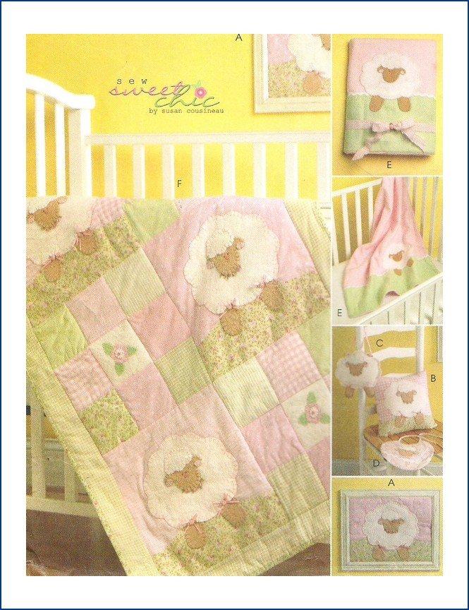 McCalls M5870 Uncut Sewing Pattern Baby's Nursery Sweet Chic