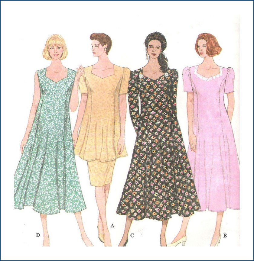 Simplicity Sewing Pattern 9006 Misses Maternity Dress Top Skirt Size 12 14 16