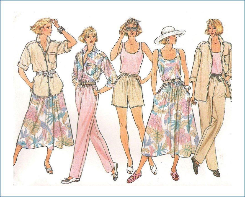 Butterick 3247 Uncut Sewing Pattern Misses Summer Wardrobe Size  8 10 12