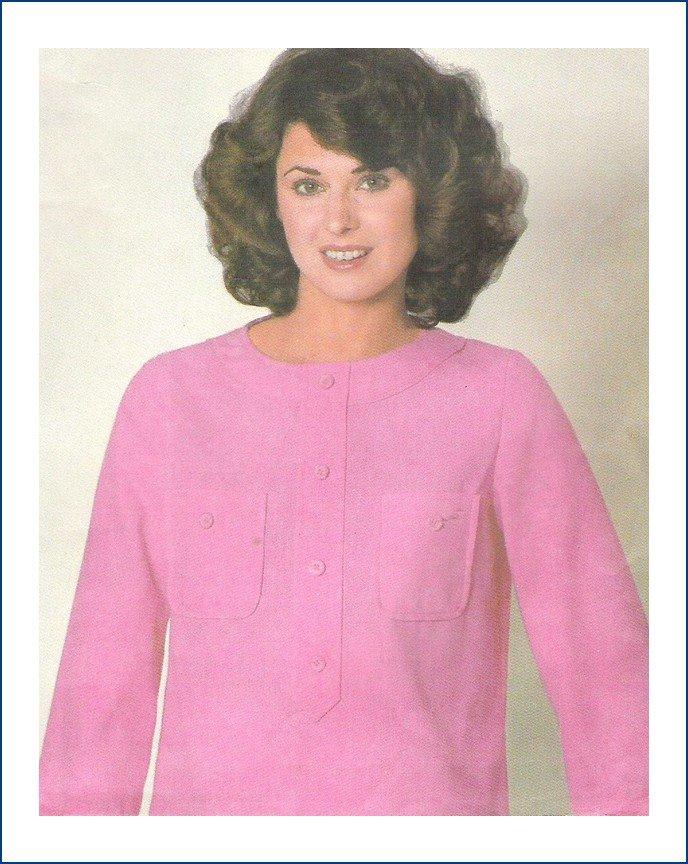 Vintage Simplicity 8420 Sewing Pattern ESP Misses Blouse Size 10