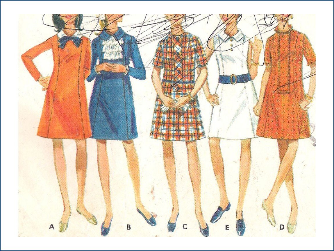Vintage Butterick Sewing Pattern 5022 Misses A Line Dress Size 14