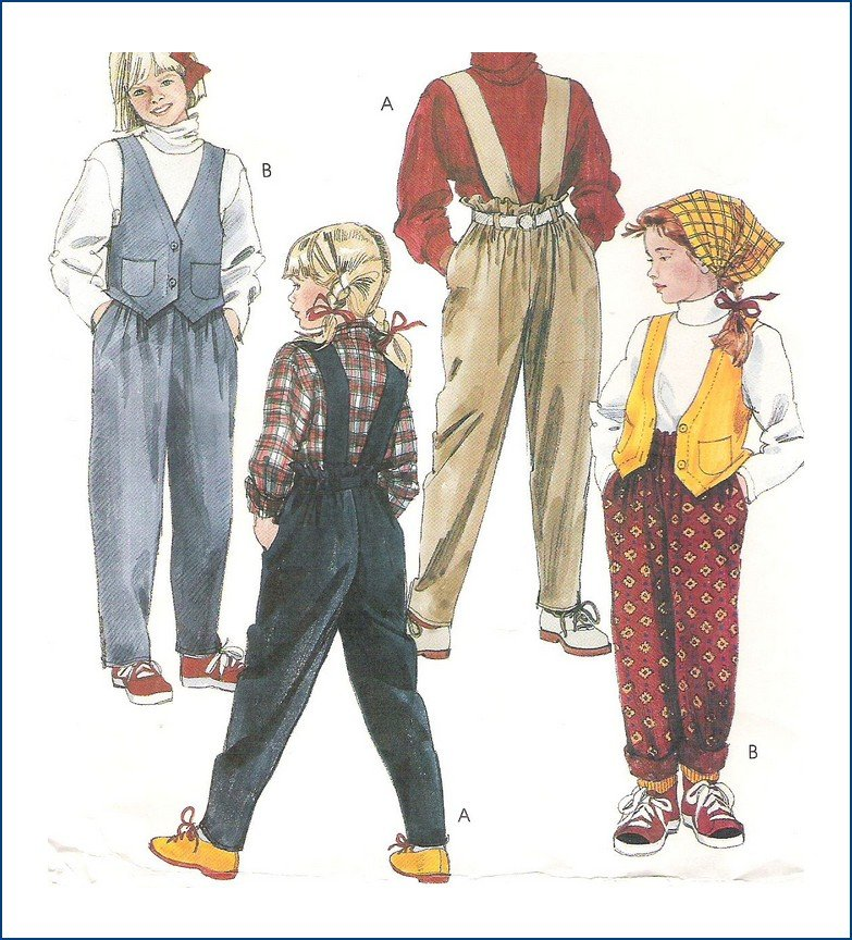 McCalls 4500 Sewing Pattern Girl's Vest and Pants Size 10 12