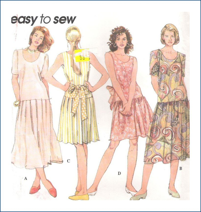 Uncut Simplicity Sewing Pattern 8961 Misses Dress Sizes 12 14 16