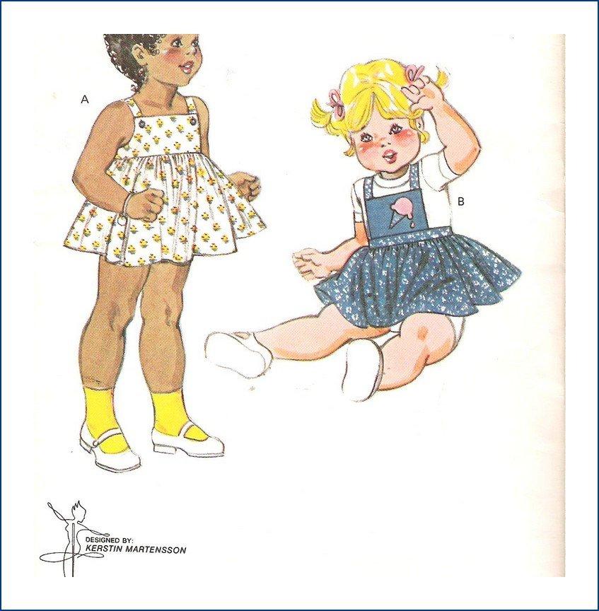 Kwik Sew Sewing Pattern 1081 Toddler Sundress Size 1T-4T