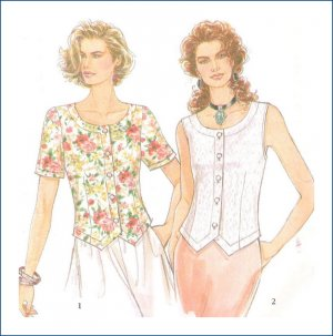 Sewing Pattern Misses Top Skirt Simplicity 9012 Size 8-18