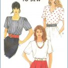 Simplicity 9587 Sewing Pattern Misses Pullover Tops Easy to Sew 16-24 Uncut