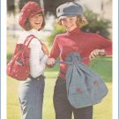 Vintage Butterick 3779 Sewing Pattern Misses Cap and Bag