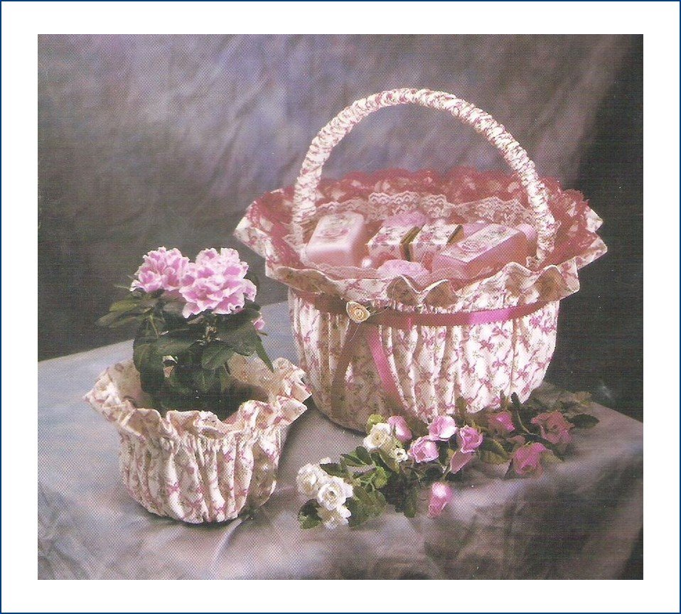 Decorator Baskets Pattern 1000 JMC Creative Crafts Recycle Plastic Containers into Baskets Uncut