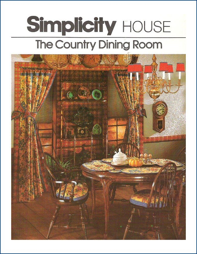 Vintage Simplicity 106 Pattern The Country Dining Room