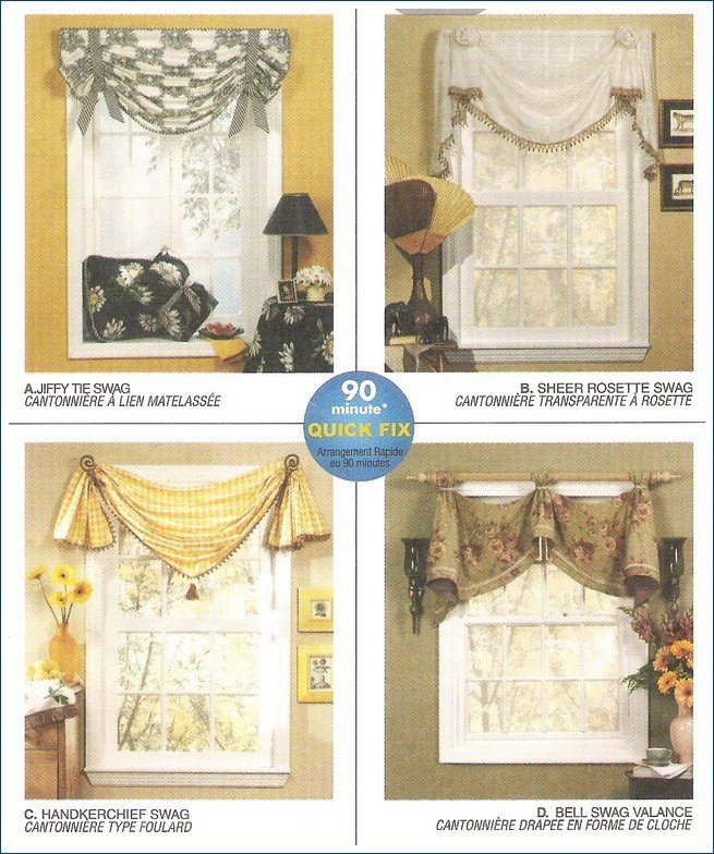 McCall's 3632 Valances Swags 90 Minute Quick Fix Pattern Uncut