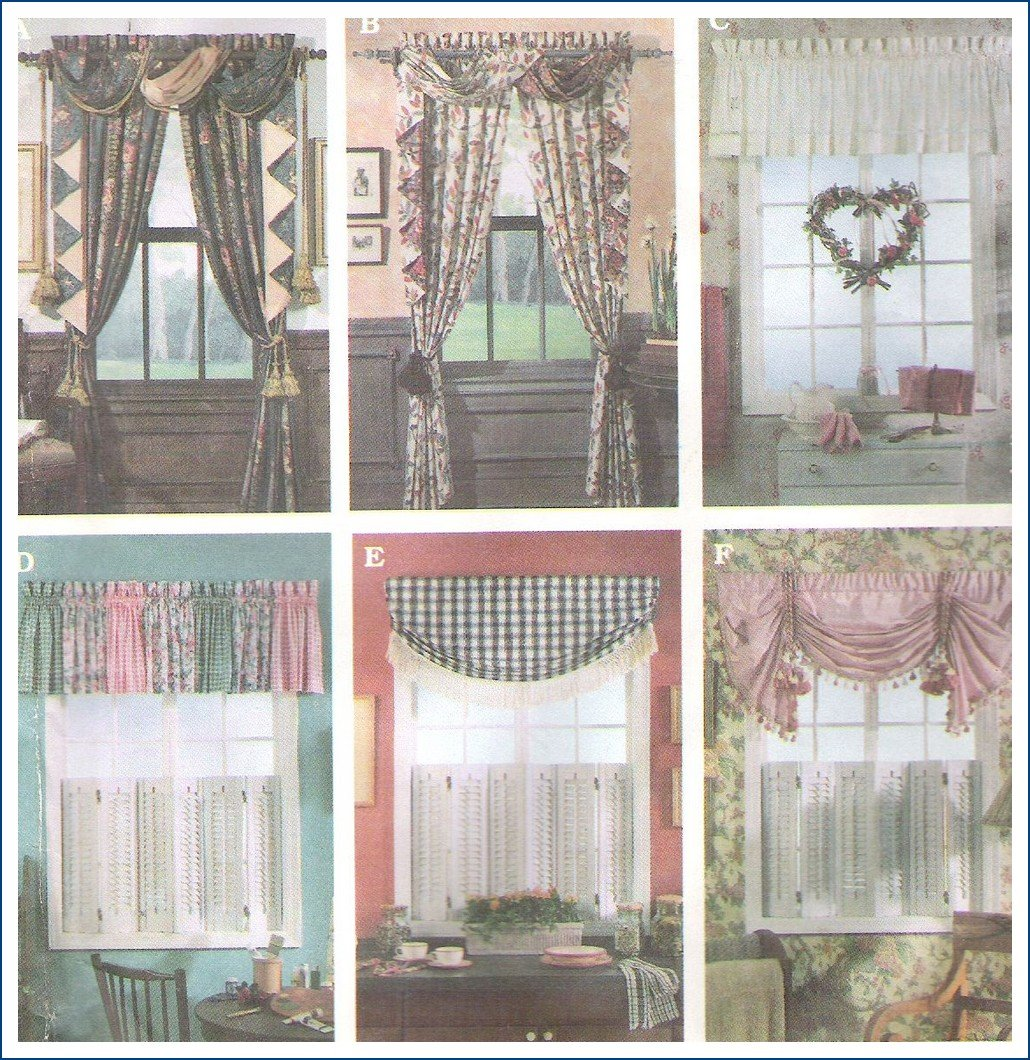 Simplicity Sewing Pattern 8969 Curtains Window Treatments ...