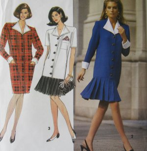 Simplicity Sewing Pattern 7608 Misses Flounce Dress  Size 6 8 10 Uncut