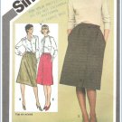 Vintage Simplicity 9789 Sewing Pattern Misses Skirts  Size 14