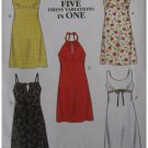 Misses Uncut Dress Sewing Pattern Simplicity 6860 Size 6-16