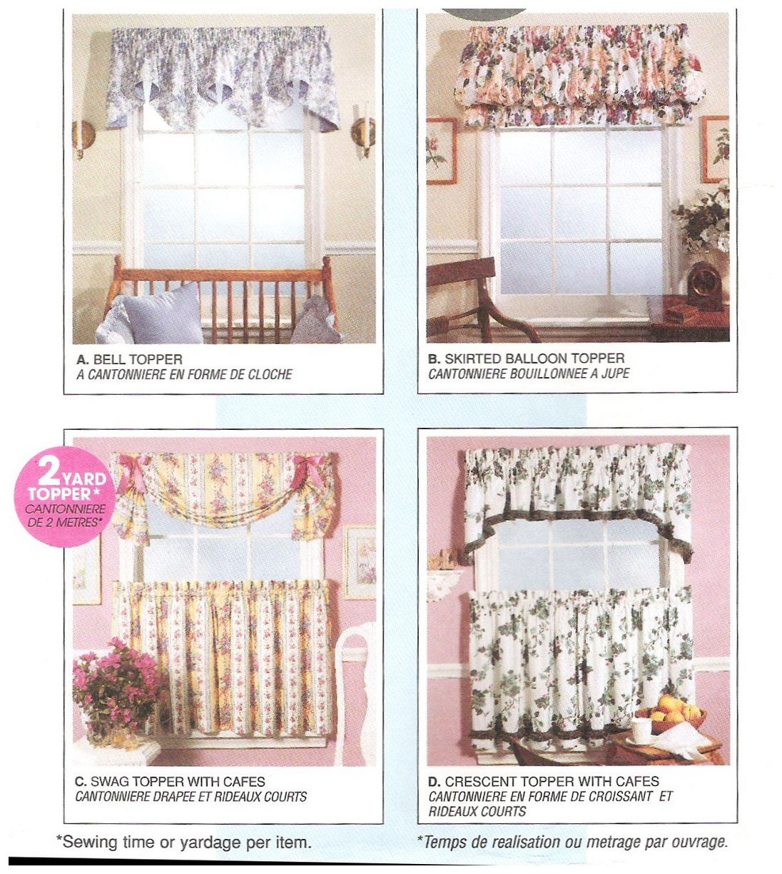 McCalls 8080 Sewing Pattern Uncut Curtains Valances