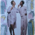 McCalls Sewing Pattern 2476  Misses Robe Nightgown Pajamas Uncut SML