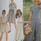 Simplicity Sewing Pattern 7504 Misses Jumpsuit Front Button Dress Size XS S M