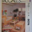 Home Decor Pattern Uncut McCalls 8074 First Apartment Pillows Futon Pads Chair Pads