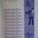 Vintage Stretch and Sew Patttern 615 Ladies Cardigan Uncut Bust Size 30-42 Uncut