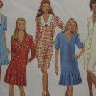 Uncut Pattern Simplicity 8536 Misses Pleated Flounce Dress Drop Waist Sz. 10-16