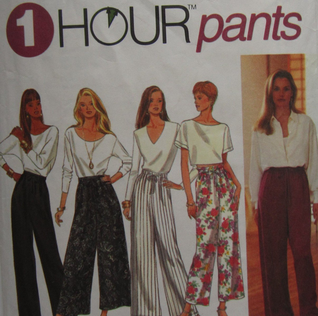 Simplicity 8745 Uncut Pattern Misses Pull On Pants 1 Hour Pattern Size XS S M