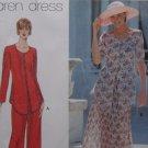 Uncut Pattern Misses Dress and PantSuit  Maren Dress Size 12 14 16 Simplicity 9439