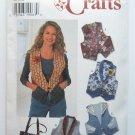 Simplicity 7151 Craft Pattern Misses Vest and Bag Sizes 12 14 16 Uncut