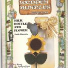 Wooden Bundles Wood Painting Kit Milk Bottle Sunflower New in Package