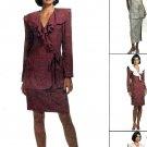 McCalls 6923 Sewing Pattern Misses Wrap Dress Jacket Skirt Ankle Length Size 4 6 8 Uncut
