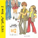 Simplicity 5336 Jiffy Child's Vest Skirt Bell Bottom Pants Size 2