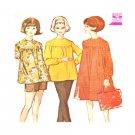 1960s Vintage Maternity Pattern  Misses Dress Top Pants Shorts Sz 12 McCalls 6995