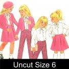 Butterick 3309 Uncut Sewing Pattern  Girls Jacket Blouse Skirt Pants Size 6