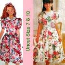 Butterick 6014 Pattern Girls Dress Size 7 8 10 Uncut Expo