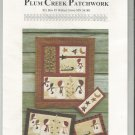 Uncut Quilting Pattern Snow People Bringing Home the Christmas Tree Wall Hanging Plum Creek