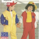 Butterick 3618 Pattern Childs Zippered Jacket Elastic Waist Pants Uncut Size 2-6X