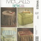 McCalls M4803 Sewing Pattern Ottoman Slipcovers UNCUT