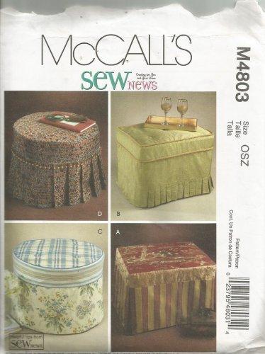 McCalls M4803 Sewing Pattern Ottoman Slipcovers UNCUT