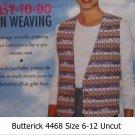 Butterick 4468 Misses Pin Weave Vest Uncut Size 6-24