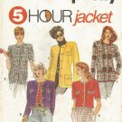 Sewing Pattern Simplicity 7964 Misses Boxy  Jacket In 2 Lengths, Size 20 22 24 26 Uncut