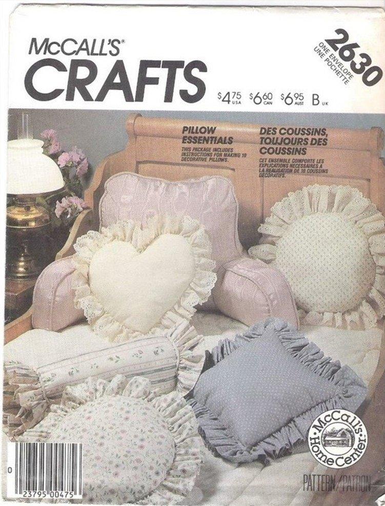 McCall's Pilllows Sewing Pattern 2630 Pillow Essentials Uncut