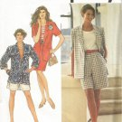 Uncut Sewing Pattern  Misses Skirt Shorts Jacket Sizes 12 14 16 Simplicity 7681