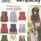 Simplicity 9058 Uncut Pattern Misses Lined Vest Size 18 20 22 Design Your Own Vest