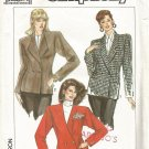 Simplicity 9413 Uncut Pattern Misses Fitted Double Breasted Lined Jacket Blazer Size 12 14 16