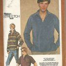Vintage Simplicity 9739 Pattern Mens Knit Pullover Top Size 38